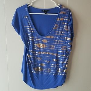 Kenneth Cole Blue and Gold Tee